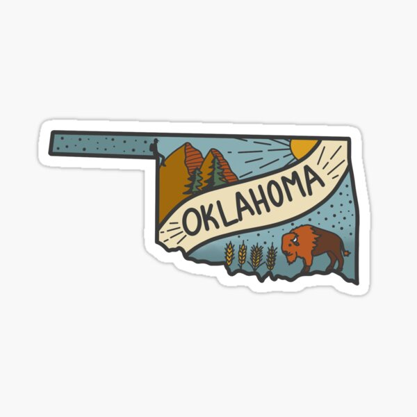 oklahoma state sticker Sticker