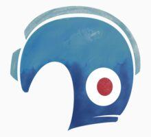 Mega Man Helmet Shirt or Hoodie | Baseball  Sleeve