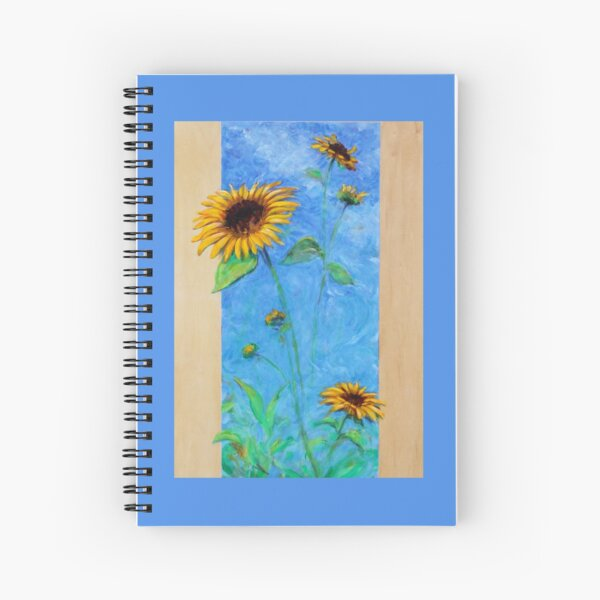 Yay Sunflowers! (tall rectangle) Spiral Notebook