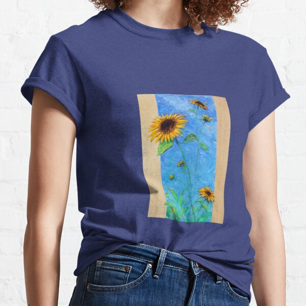 Yay Sunflowers! (tall rectangle) Classic T-Shirt
