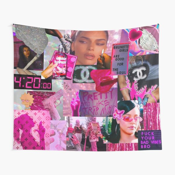 Pink party tapestry Tapestry