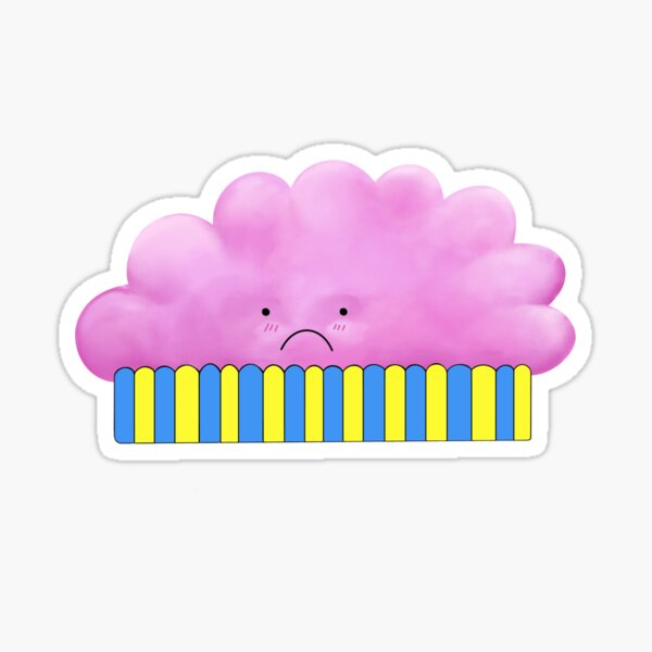 Sad Cloud Muffin Sticker