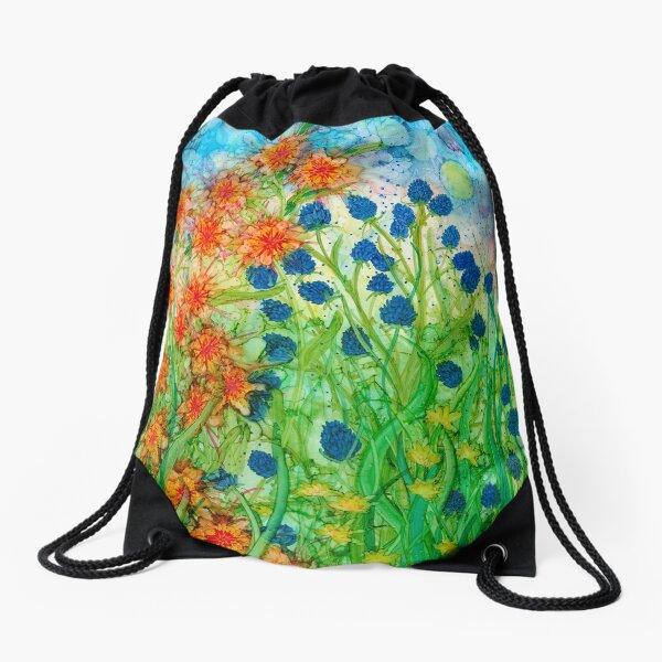 Summer Meadow Drawstring Bag