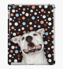 White Pit Bull iPad Case/Skin