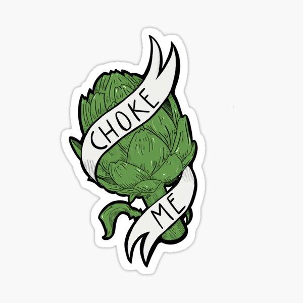 Kinky Artichoke (color) Sticker