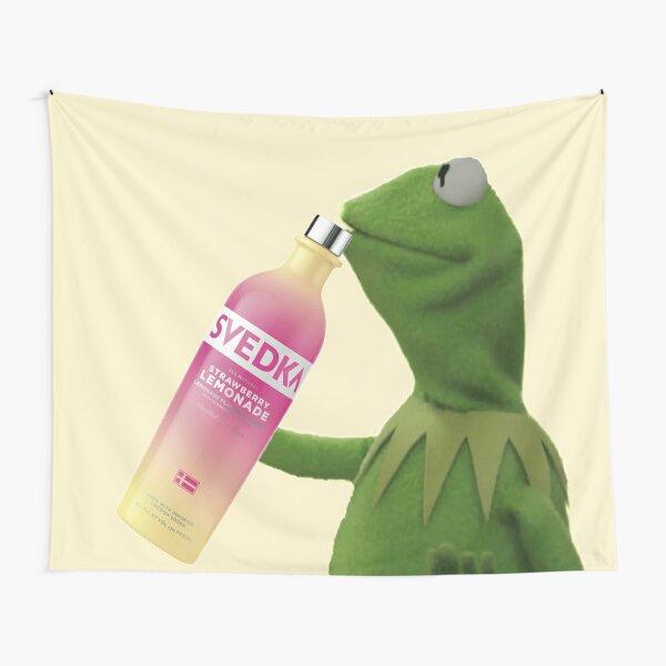 Kermit Sips Svedka Tapestry
