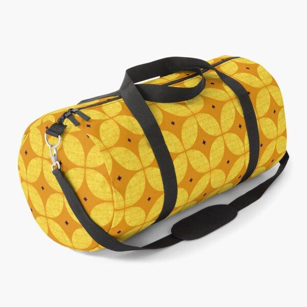 Mid Century Modern Atomic Starburst in yellow and ochre Duffle Bag