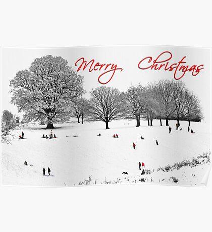 Christmas Sledging Poster