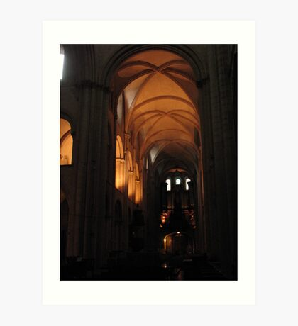 Caen Men's Abbey Art Print