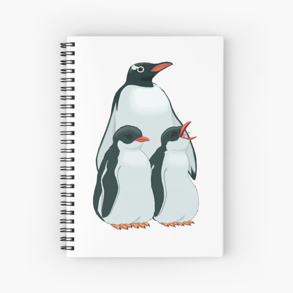 THE MOST BEAUTIFUL FAMILY OF PENGUINS Spiral Notebook