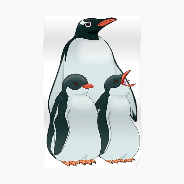 THE MOST BEAUTIFUL FAMILY OF PENGUINS Poster