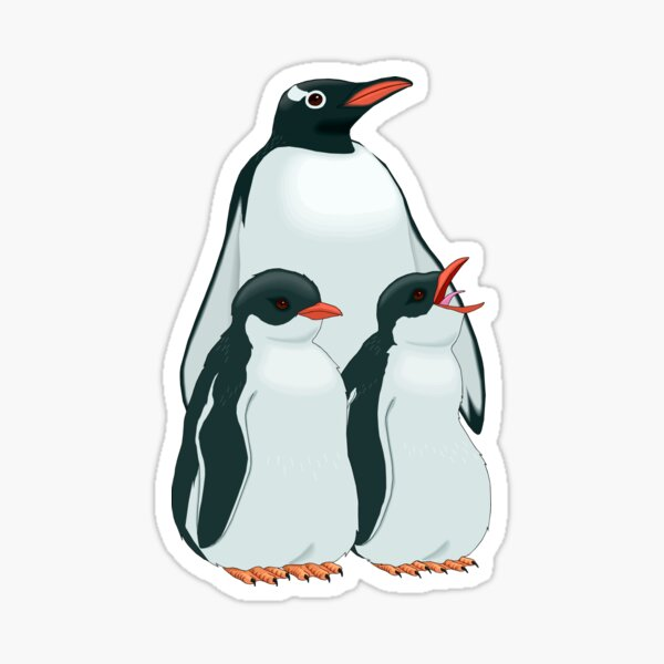 THE MOST BEAUTIFUL FAMILY OF PENGUINS Sticker