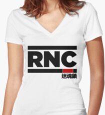 Rear Naked Choke (RNC) Women's Fitted V-Neck T-Shirt