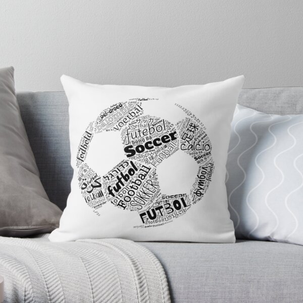 Football, Soccer, Futbol, the International Obsession Polyglot Throw Pillow