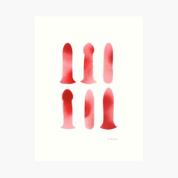 Dildo Artwork Red and Pink  Art Print