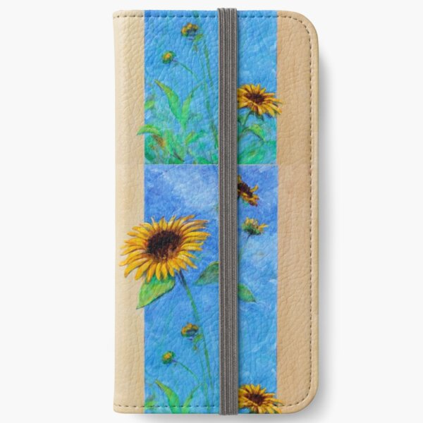 Yay Sunflowers! (tall rectangle) iPhone Wallet