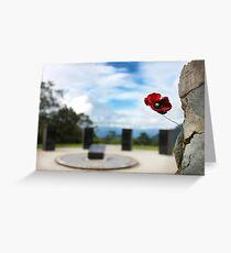 Poppy at Isurava Memorial  Greeting Card