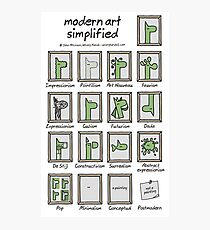 modern art simplified Photographic Print