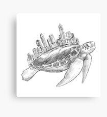 Urban Turtle Canvas Print