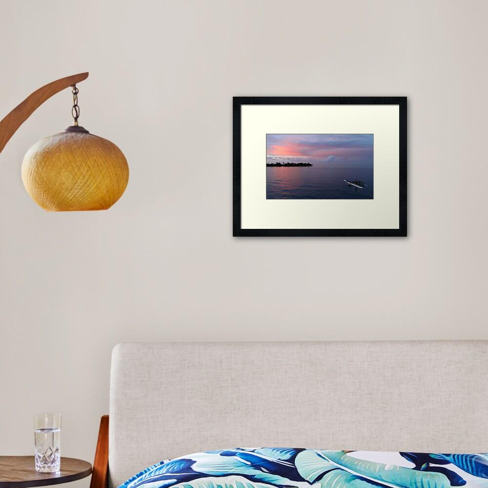 Sunset at Ninigo Atoll Framed Art Print