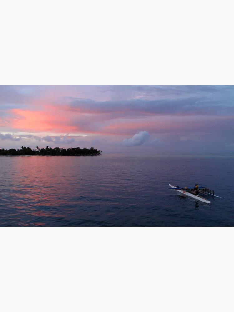 Sunset at Ninigo Atoll by neoniphon