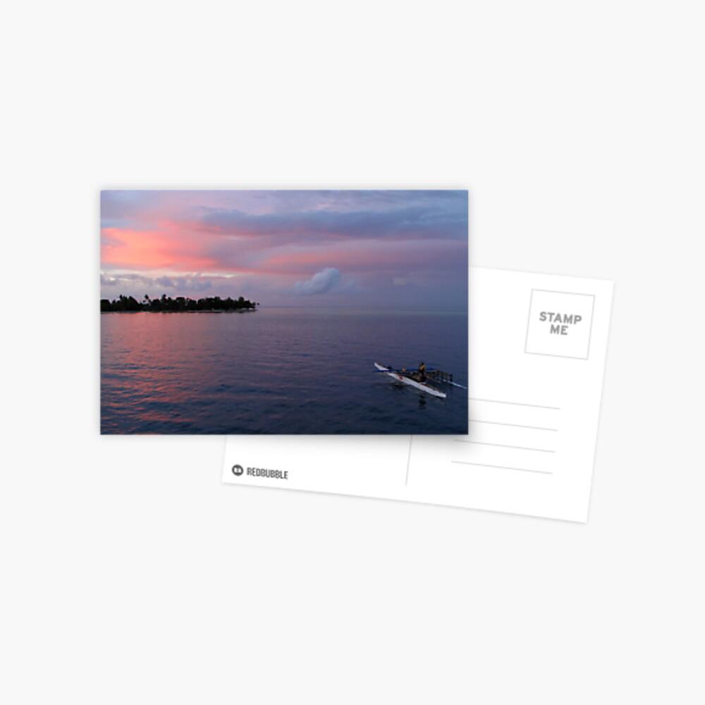 Sunset at Ninigo Atoll Postcard