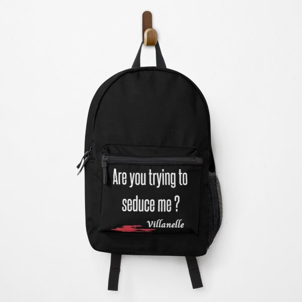Killing Eve - Villanelle quote- Sorry Baby- Killing Eve fan if you have become a fan of Killing Eve - Sorry Baby Quote- white background- blood splatter Backpack