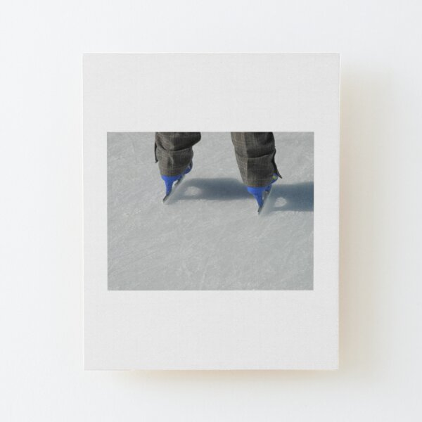 Ice Skating in The City Wood Mounted Print