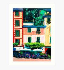Portofino Cafe Art Print