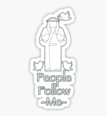 People Follow Me Sticker