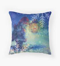 Lighting the Way for Santa Throw Pillow