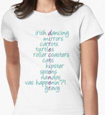 1D Acrostic (Aqua) Women's Fitted T-Shirt