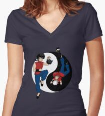 Ranma's Tao Women's Fitted V-Neck T-Shirt
