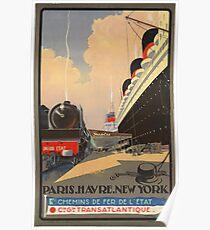 Vintage poster - Cie Gle Transatlantique Poster