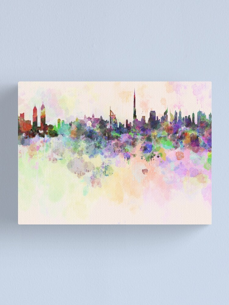 DUBAI WATERCOLOUR CANVAS PRINT PICTURE WALL ART VARIETY OF SIZES