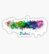 Dubai skyline in watercolor Sticker