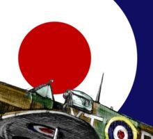 British Spitfire Fighter Plane Sticker