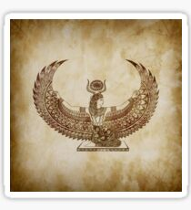 Isis Papyrus - Egyptian Art Sticker