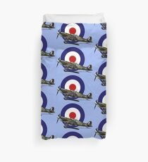 British Spitfire Fighter Plane Duvet Cover