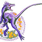 Genderqueer Juravenator (with text)  by R.A.  Faller