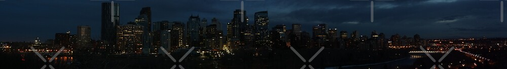 Calgary Night Skyline by Morgan Booker