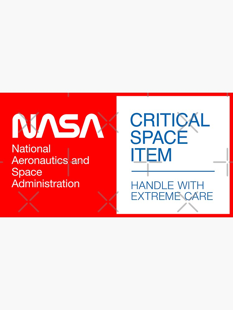 NASA - Critical Space Item (Red) by ynnej