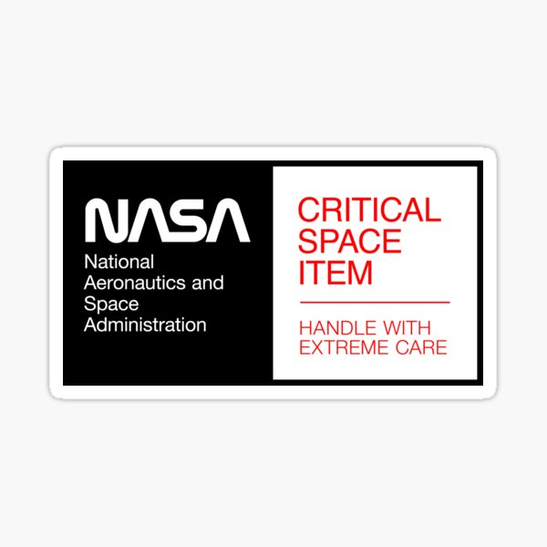 NASA - Critical Space Item (Black) Sticker