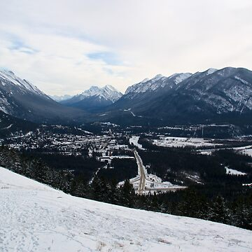 Banff view in winter by bookermorgan