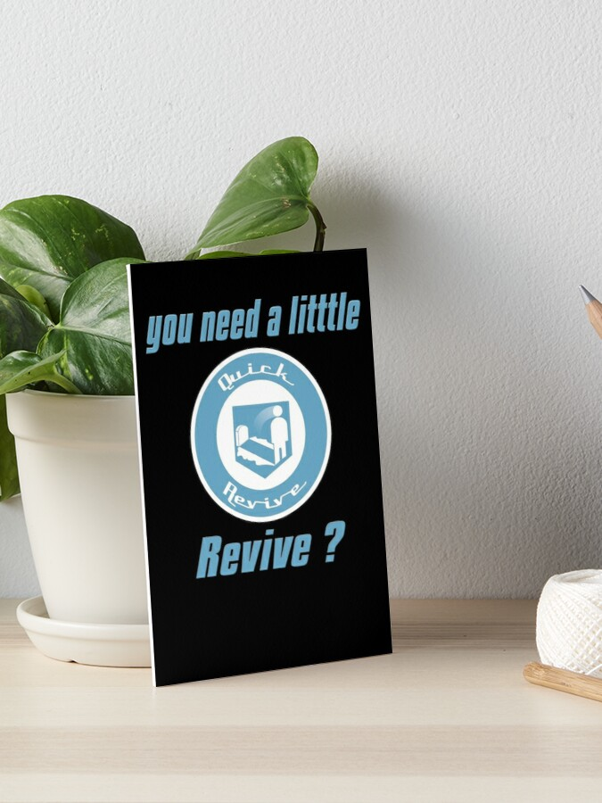 Quick Revive T Shirt Call Of Duty Zombies Perk Art Board Print By Mrwacko7558 Redbubble