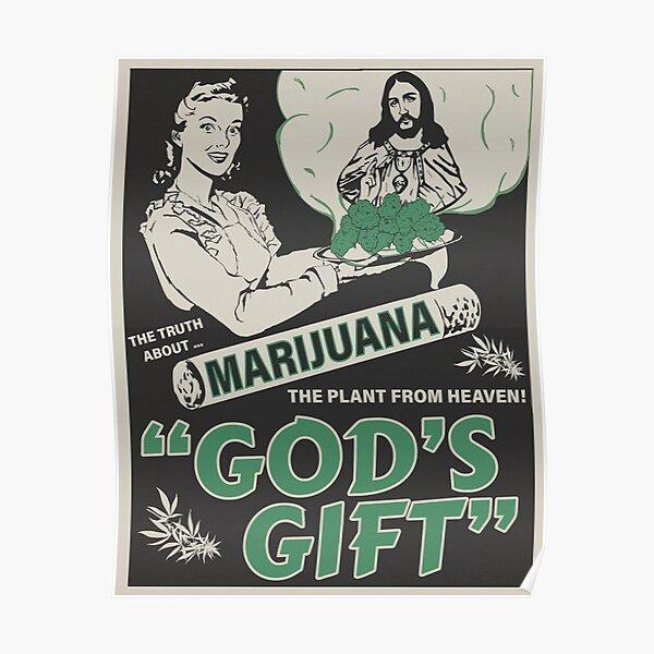 Vintage Marijuana Poster Poster