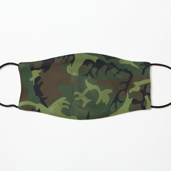 Woodland Green Camouflage with Hidden Face, RBSSG Kids Mask