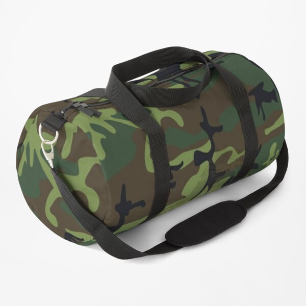 Woodland Green Camouflage with Hidden Face, RBSSG Duffle Bag