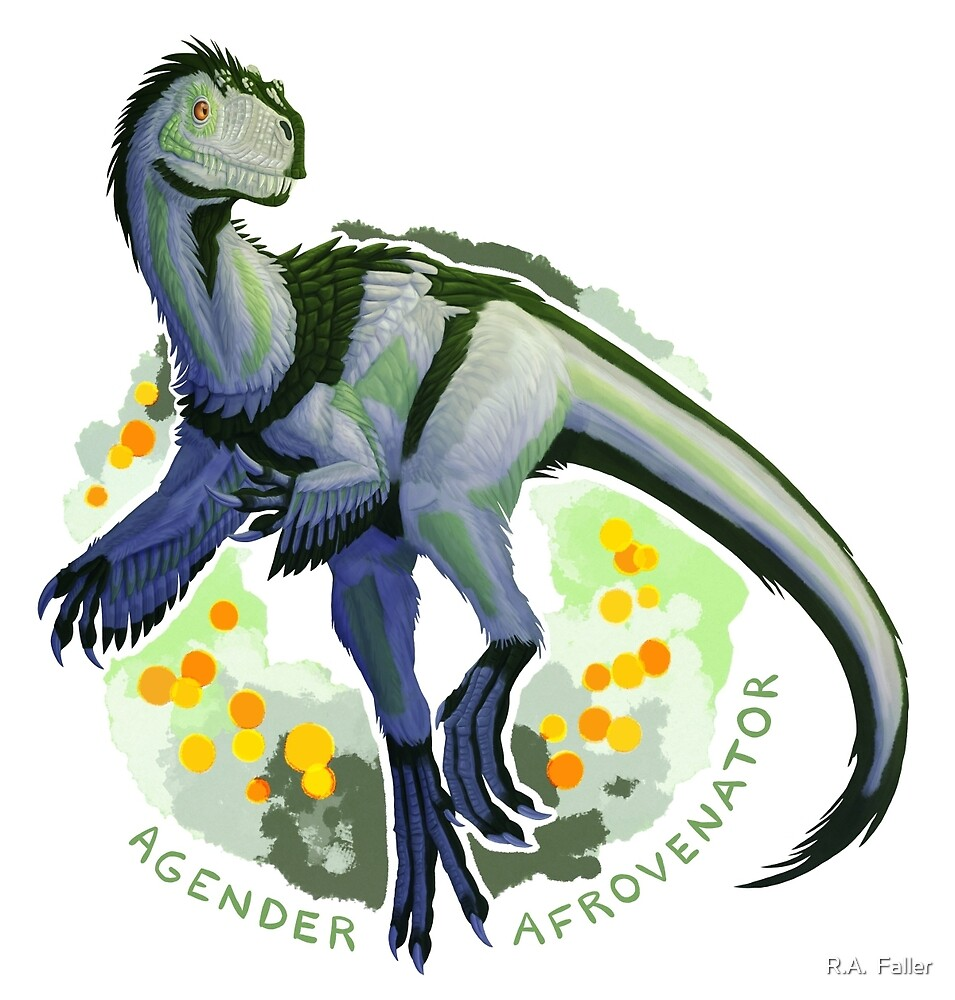 Agender Afrovenator (with text)  by R.A.  Faller