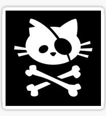 Pirate Cat: Skull and Crossbone Sticker